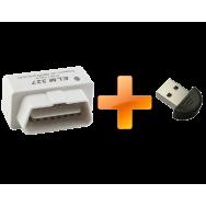 Сканер OBD2 ELM-327 + USB-Bluetooth адаптер (для магнитол HiCES)