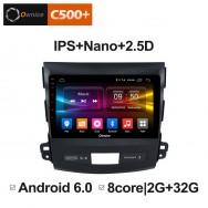 Штатная магнитола Ownice C500+ S9636P для Mitsubishi Outlander (Android 6.0)