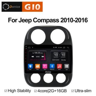 Штатная магнитола Ownice G10 S1252E для Jeep Compass (Android 8.1)