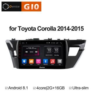 Штатная магнитола Ownice G10 S1603E для Toyota Corolla E160 (Android 8.1)