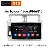 Штатная магнитола Ownice G10 S1614E для Toyota Prado 150, 2013 (Android 8.1)