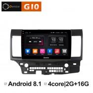 Штатная магнитола Ownice G10 S1632E для Mitsubishi Lancer X (Android 8.1)