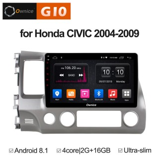 Штатная магнитола Ownice G10 S1647E для Honda Civic 8 (Android 8.1)