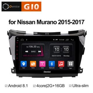 Штатная магнитола Ownice G10 S1663E для Nissan Murano 3, Z52 (Android 8.1)