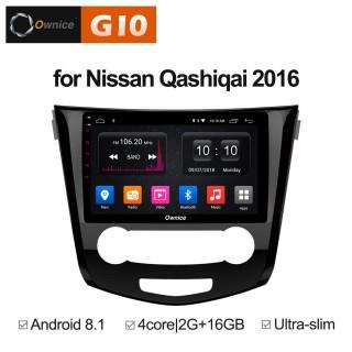 Штатная магнитола Ownice G10 S1667E для Nissan Qashiqai 2, X-trail 3 manual AC (Android 8.1)