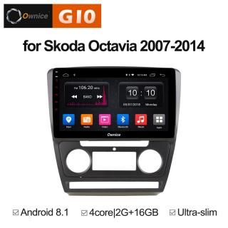 Штатная магнитола Ownice G10 S1920E для Skoda Octavia A5 (Android 8.1)