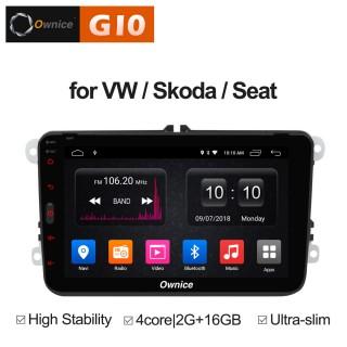 Штатная магнитола Ownice G10 S8905E для Volkswagen Универсальная (Android 8.1)