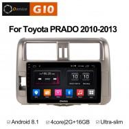 Штатная магнитола Ownice G10 S9613E для Toyota Prado 150 (Android 8.1)