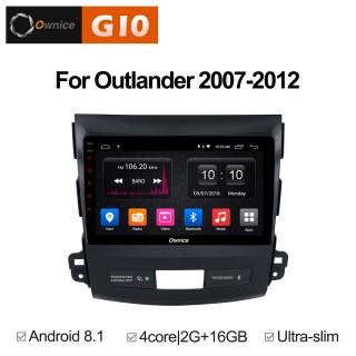 Штатная магнитола Ownice G10 S9636E для Mitsubishi Outlander (Android 8.1)