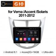 Штатная магнитола Ownice G10 S9707E для Hyundai Solaris (Android 8.1)