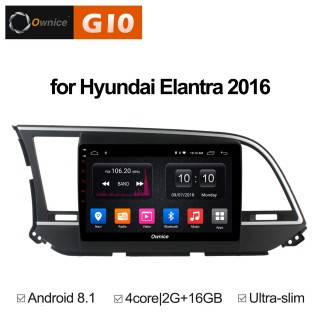 Штатная магнитола Ownice G10 S9708E для Hyundai Elantra 6 (Android 8.1)