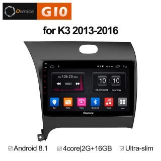 Штатная магнитола Ownice G10 S9732E для KIA Cerato 3 (Android 8.1)