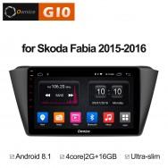Штатная магнитола Ownice G10 S9918E для Skoda Fabia mk3 (Android 8.1)