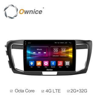 Штатная магнитола Ownice C500+ S1642P для Honda Accord 9 (Android 6.0)