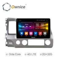 Штатная магнитола Ownice C500+ S1647P для Honda Civic 8 (Android 6.0)